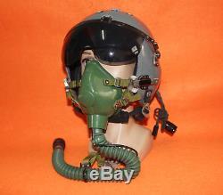 Rare Flight Helmet Naval Aviator Pilot Helmet Oxygen Mask Ym-6512m 1#