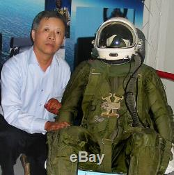 Rare Surplus High Altitude Fighter Pilot Flight Helmet, Sun-visor, Anti G Suit