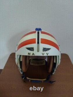 Real USA War APH-6 Pilot Flight Helmet Aviation Helmet LARGE Size 1111