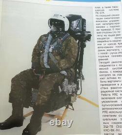 Russian Flight Helmet Air Force Fighter Pilots Fight Suit BKK-15 Flight Jacket