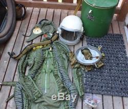 Russian MIG pilot High Altitude Flight Helmet inner helmet suit & Case Mic
