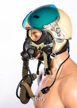 Russian Soviet pilot flight helmet ZSH-3+oxygen mask + leather helmet 4 pcs/set