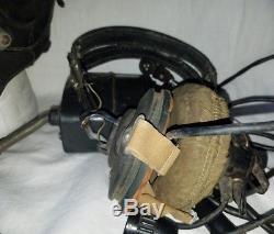 Russian Soviet pilot flight helmet goggles binoculars earphones PNV-57 Afghan