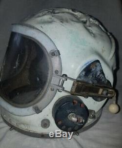 Russian Soviet pilot flight space stratospheric helmet USSR Air Force