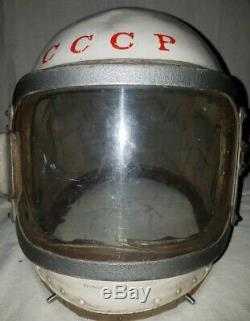 Russian Soviet pilot flight stratospheric helmet shell USSR Air Force
