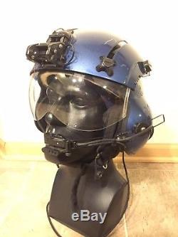 SPH-5CG Coast Guard Helicopter Pilot Flight Helmet Large not HGU