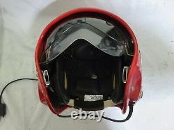Serbian Pilot's Flight Helmet + Oxygen Mask Pilotska Kaciga PK75 S Red #9
