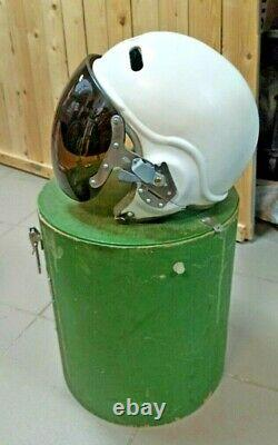 Set Soviet pilot flight helmet Air Force ZSH-3M box Su Mig USSR Original space