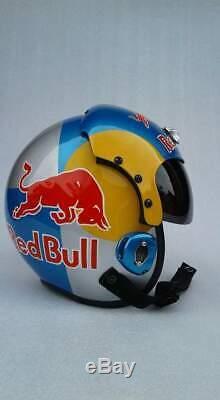 Silver Bull Flight Helmet Prop Pilot Naval Aviator Usn Navy