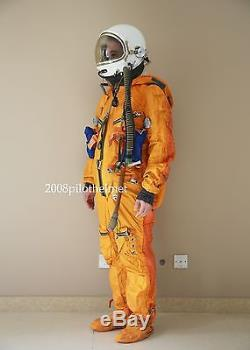 Spacesuit Flight Helmet Airtight Astronaut Pilot Helmet Flying Suit- P-3#