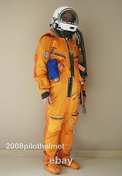 Spacesuit Flight Helmet Airtight Astronaut Pilot Helmet Flying Suit- P-3#3#