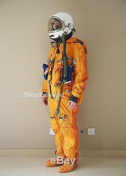 Spacesuit Flight Helmet Airtight Astronaut Pilot Helmet Flying Suit- P-8#