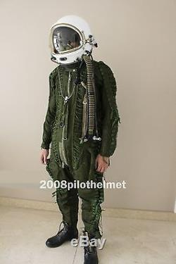 Spacesuit Flight Helmet High Altitude Astronaut Space Pilots Pressured 01077