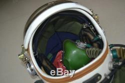 Surplus Air Force High Altitude MiG-21 Pilot Flight Helmet(black sun-visor)