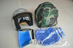 Surplus Air Force Pilot Militaria Aviator Flight Helmet, Gray Helmet