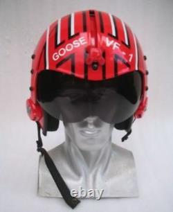 Top Gun Goose Flight Helmet Movie Prop Pilot Naval Aviator Usn Navy