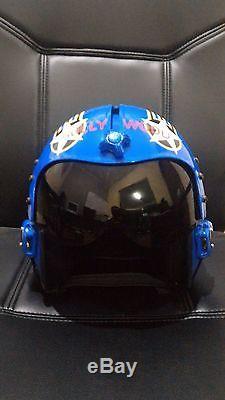 Top Gun Hollywood Flight Helmet Movie Prop Pilot Naval Aviator Usn Navy