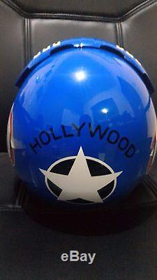 Top Gun Hollywood Flight Helmet Movie Prop Pilot Naval Aviator Usn Navy