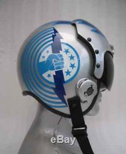 Top Gun Iceman Flight Helmet Movie Prop Pilot Naval Aviator Usn Navy