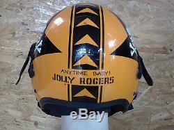 Top Gun Jolly Roggers Flight Helmet Movie Prop Pilot Naval Aviator Usn Navy