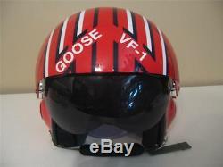 Top Gun Nick Goose Bradshaw Flight Helmet Movie Prop Fighter Pilot Replica