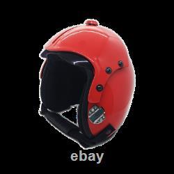 Top Gun Plain Red Flight Helmet Movie Prop Pilot Naval Aviator Usn Navy