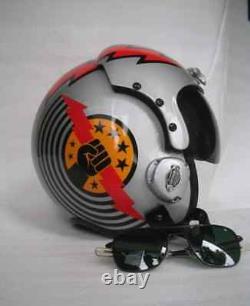 Top Gun Slider Flight Helmet Movie Prop Pilot Naval Aviator Usn Navy