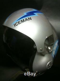 Top Gun Tom Iceman Kazanski Flight Helmet Movie Prop Fighter Pilot Air Force