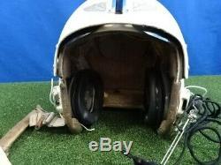 U. S. Air Force Pilot's Flight Helmet HGU2P with Wired Microphone Earphone