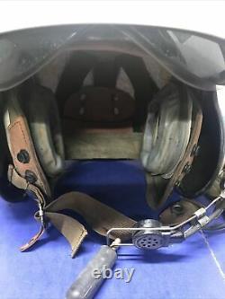 U. S. Marines GENTEX SPH-3B HELICOPTER PILOT FLIGHT HELMET & BAG WithMaps LOOK