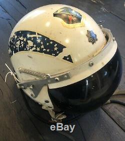 US Air Force P-4 Pilot Flight Helmet Jet Fighter Bomber 92nd Bomb Wing 1950s