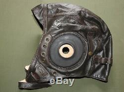 US Army AAF WW2 PILOT A-11 LEATHER FLIGHT HELMET MINT WPG Aviator Flying Cap Hat