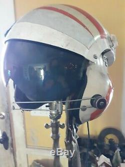 US COAST GUARD HELICOPTER PILOT FLIGHT HELMET ORANGE stripes