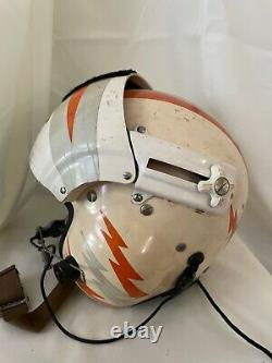 US Coast Guard Pilot's Dual Visor Flight Helmet Rare