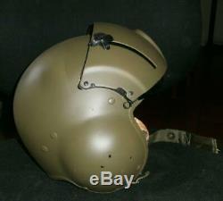 US Pilots Helicopter Flight Helmet With Dual Visors