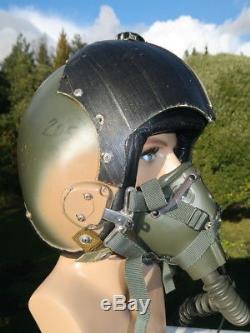 USAF F-100 Camo Vietnam War Pilot HGU-2A/P Flight Helmet & MBU-5/P Oxygen Mask