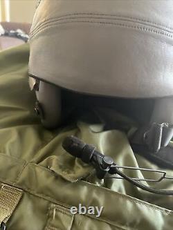 USAF F-15 Fighter pilot flight helmet HGU-55/p With Bag / Coms
