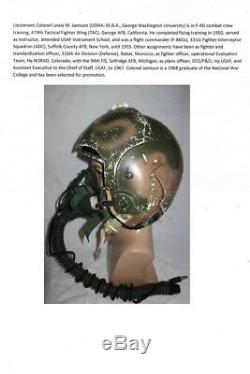 USAF Vietnam Krieg Fliegerhelm HGU-2A/P Named Pilot Flight Helmet Pilotenhelm