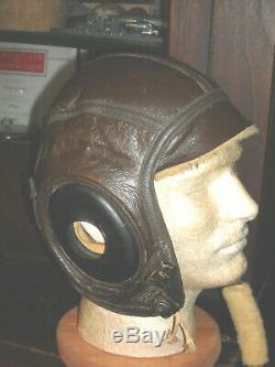 Us Navy Slote & Klein Winter Flight Pilot Aviator Helmet Sz Extra Large