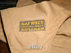 Us Navy Ww2 1092s Flight Pilot Helmet Sz 7 1/4 Nos Slote & Klein