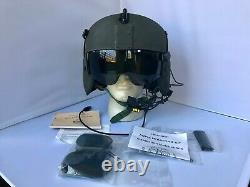 Used Commercial Medium Hgu56p Helicopter Pilot Flight Helmet, Lip Light Hgu 56
