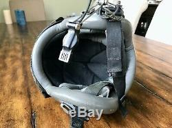 Used Hgu55 Gentex Pilot Flight Helmet Large & Banana Nvg Mount Hgu 55