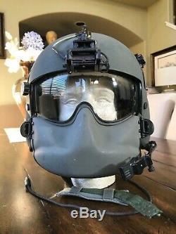 Used Hgu56 Gentex Flight Helmet, Nvg Hgu 56 Pilot Helicopter