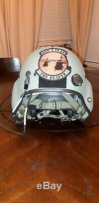 Used Hgu56 Gentex Flight Pilot Helmet-nvg, Cobra MIC Medium Hgu 56