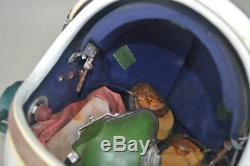Used High Altitude Air Force Fighter Pilots Flight Helmet, Used Helmet