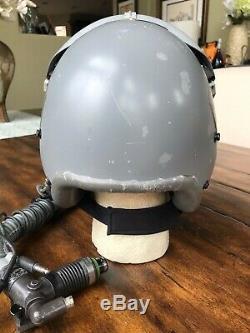 Used Rare Hgu55 Flight Pilot Flight Helmet Mbu12 O2 Eeu2p Plzt Flash Visor