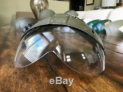 Used Sph Helicopter Pilot Flight Helmet Dual Visor & Cover #3