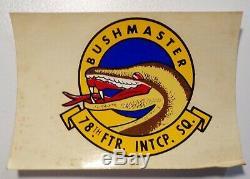 Vietnam Pilot Flight Helmet Bushmaster 78th Fighter Intercept Squadron Decal