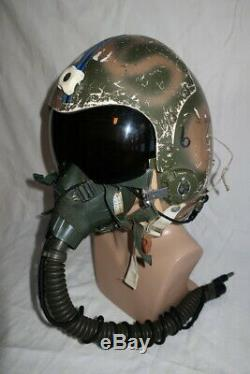 Vietnam USAF Named Camo F-4D Pilot HGU-2A/P Flight Helmet MBU-5/P Oxygen Mask