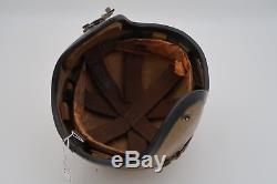 Vintage 1950's U. S. NAVY H-4 Pilot Flight Helmet Size Medium GENTEX